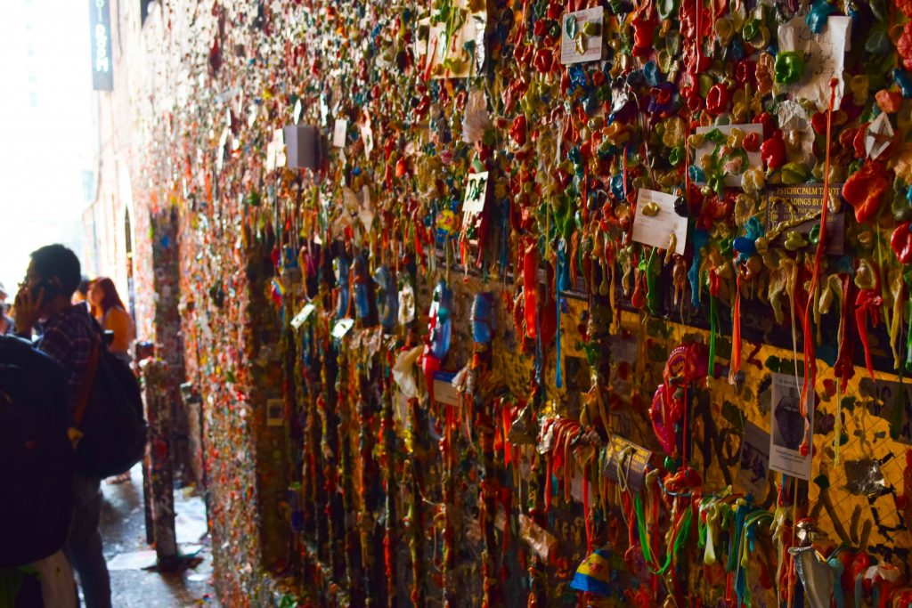 Pike's Place Market in Seattle, Washington - and the famous gum wall.