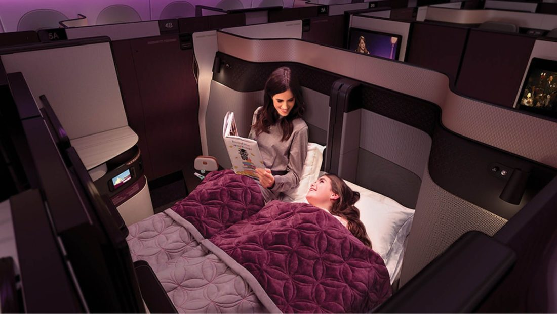 VIDEO: Qatar Airways offers double bed for your long flight