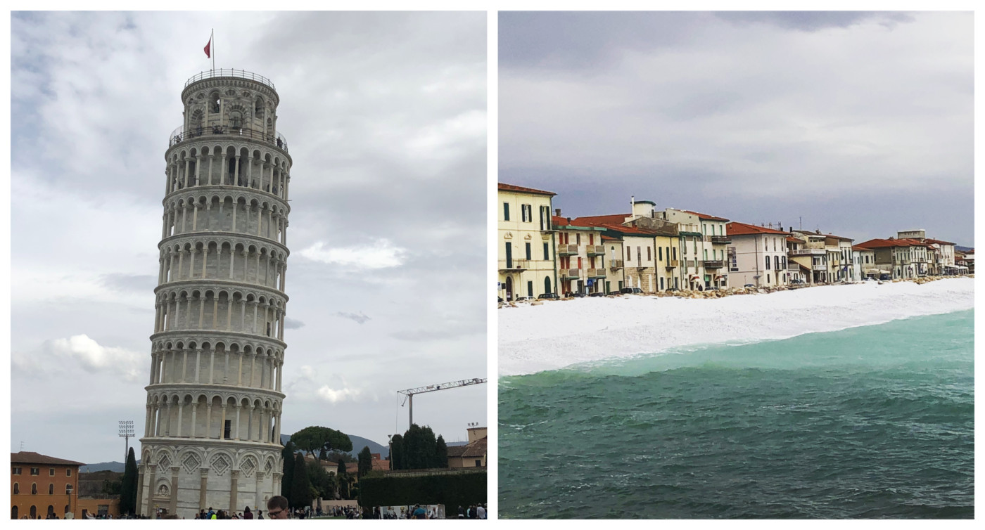 Visiting the Leaning Tower of Pisa and Marina di Pisa beach